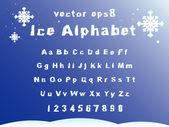 Ice alphabet — Stock Vector