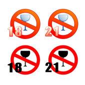 No alcohol — Stock Vector