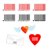 Romantic barcodes — Stock Vector