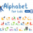 Alphabet for children - Stok Vektr