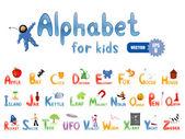 儿童的字母表 — 图库矢量图片