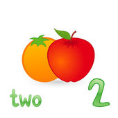 Two fruits — Stock Vector