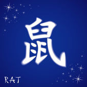 Chinese zodiac sign rat — Stockvector