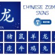 Chinese zodiac signs — Image vectorielle