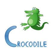 Grappige alfabet voor kinderen. crocodile - alfabet c — Stockvector