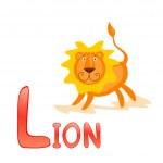 Funny alphabet Lion — Stock Vector #5373851