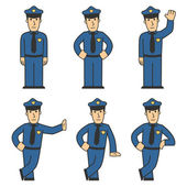 Police character set 01 — Stock Photo