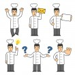 Chef character set 05 — Stock Photo