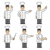 Chef character set 03 — Stock Photo