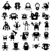 Monsters silhouettes — Stock Photo
