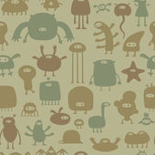 Monsters pattern — Stok Vektör