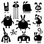 Crazy rabbits set03 — Stock Vector