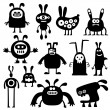 Crazy rabbits set04 — Stock Vector