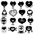 Royalty-Free Stock Vector Image: Silhouette hearts