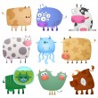 Royalty-Free Stock Vector Image: Funny cows