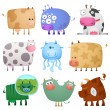 Funny cows — Stock Vector #4651079