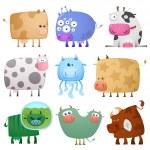 Funny cows — Stock Vector
