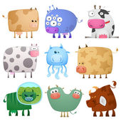 Funny cows — Stock Vector