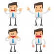 Set of funny cartoon manager — Stock Vector #4800203