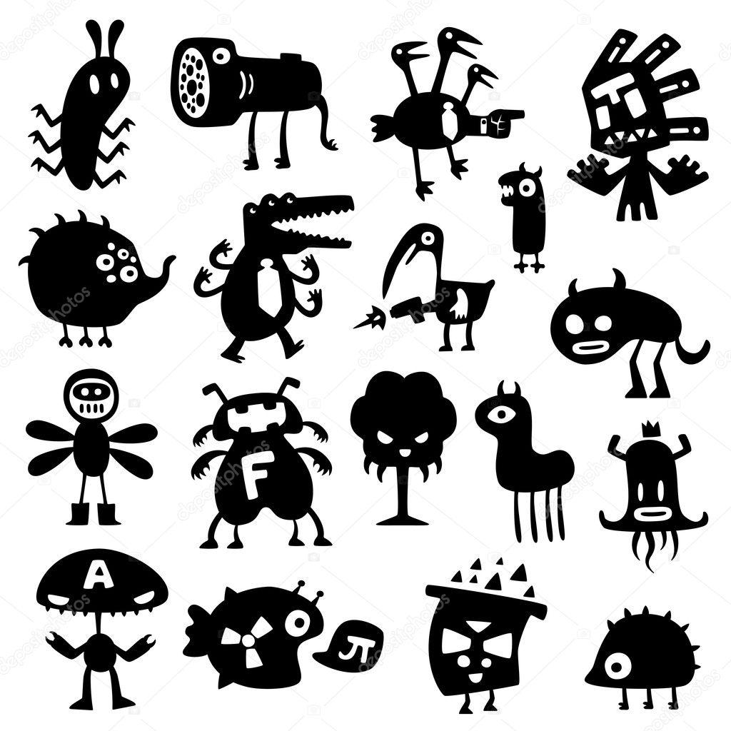Monstres rigolos image vectorielle artenot 5302017 - Images de monstres rigolos ...