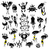 Mushroom monsters — Stock Vector