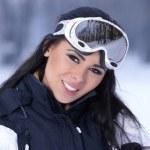 Beauty on snowy outdoors — Stock Photo #4403683