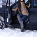 Beauty on snowy outdoors — Stock Photo #4403719