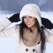 Stock Photo: Beauty on snowy outdoors