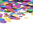 Colored confetti. White background - Stock Photo