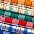 Six colored kitchen towels — Foto de Stock