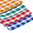 Stock Photo: Four colored kitchen towels isolated