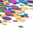 Colored confetti. White background — Stock Photo #4423257