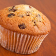 Muffin with raisins — Stock Photo