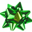 Single green bow — Stock Photo