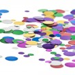 Colored confetti. White background — Stock Photo #4423420