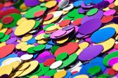 Background of multicolored confetti — Stock Photo