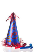 Party hat and blowers — Stock Photo