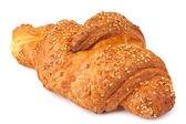 Croissant met sesamzaadjes — Stockfoto