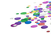 Colored confetti. White background — Stock Photo