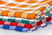 Dört renkli dishcloths — Stockfoto