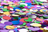 Background of multicolored confetti — Stock Photo