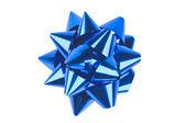 Single blue bow — Stock Photo