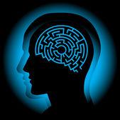 Brain maze — Stock Vector
