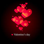 Black valentine's Day Greeting card — Stock Vector