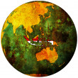 Indonesia flag on globe map - Stock Photo