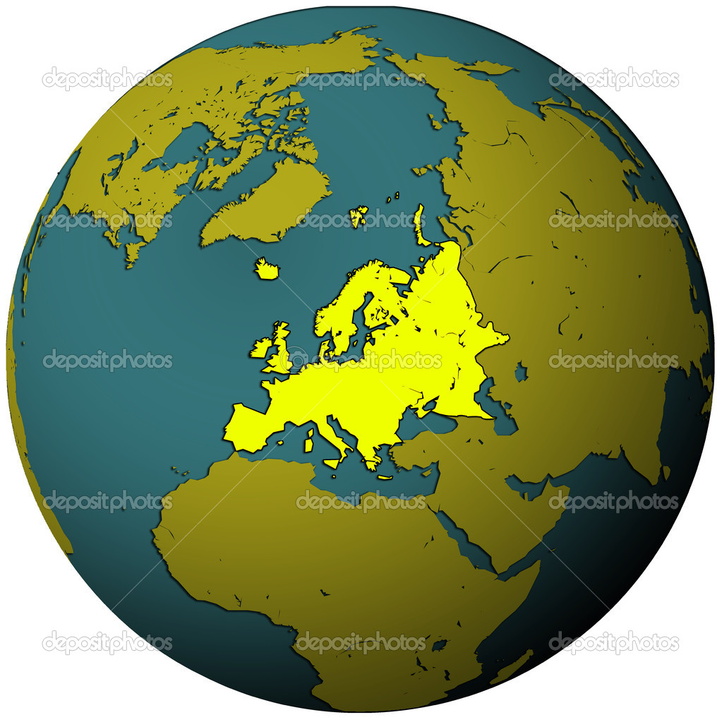 Europe territory on globe map Photo michal812 4843383 – Globe Map of Europe