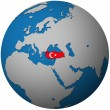 Turkey flag on globe map — Stock Photo #5285050