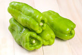 Group of green bell peppers — Stock Photo