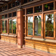 Traditional Chinese wooden building — Stock Photo