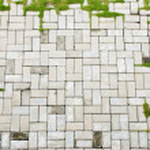 Aged brick sidewalk frame — Stock Photo